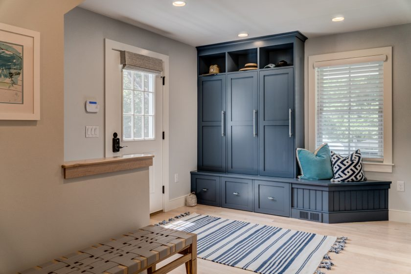 Entryway cabinet and bench